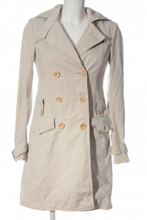 Patrizia Pepe bodenlanger Mantel creme Casual-Look