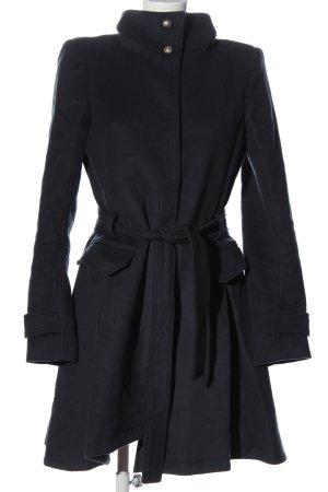 Patrizia Pepe Długi płaszcz niebieski W stylu casual