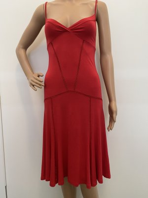 PATRIZIA PEPE DAMEN KLEID SOMMERKLEID IN ROT GRÖßE: IT.44 DE. 38
