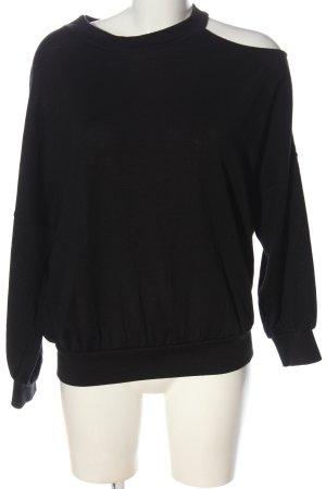 Patrizia Pepe Cienki sweter z dzianiny czarny W stylu casual