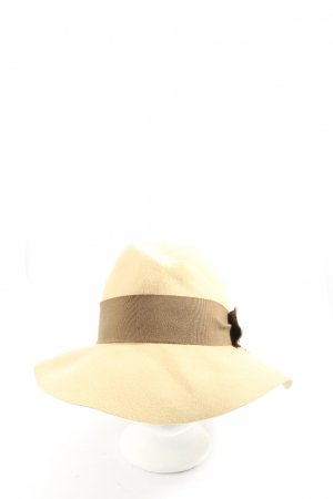 Patrizia Pepe Felt Hat natural white-brown casual look