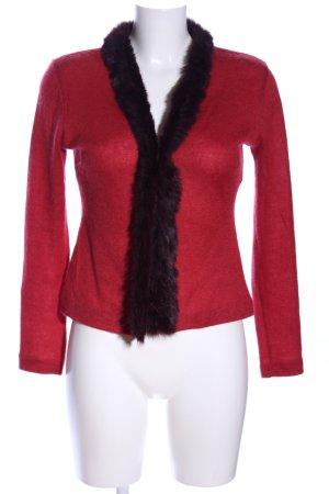 Patrizia Pepe Cardigan a maglia grossa rosso-nero stile stravagante