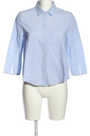 Patrizia Pepe Hemd-Bluse blau Streifenmuster Business-Look