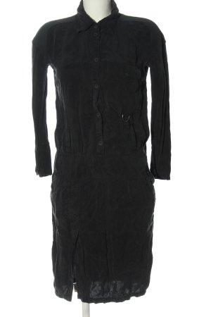Patrizia Pepe Koszulowa sukienka czarny W stylu casual
