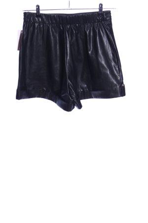 Patrizia Pepe High-Waist-Shorts schwarz extravaganter Stil