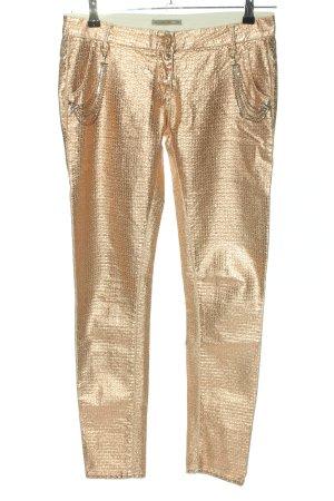 Patrizia Pepe Pantalon taille basse doré style décontracté