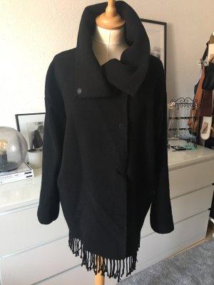 Patrizia Pepe Veste en laine noir-gris anthracite