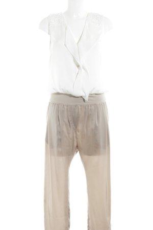 Patrizia Pepe Jumpsuit beige-weiß Business-Look