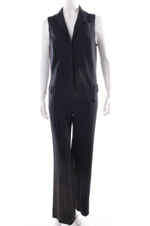 Patrizia Pepe Jumpsuit schwarz-weiß Nadelstreifen Business-Look