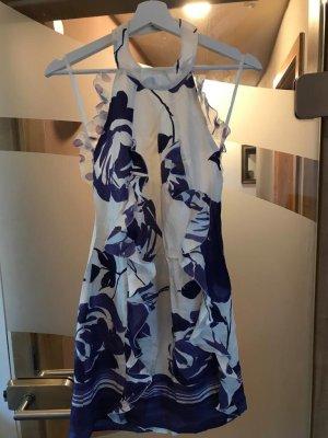 Patrizia Pepe Robe d'été violet foncé-blanc soie