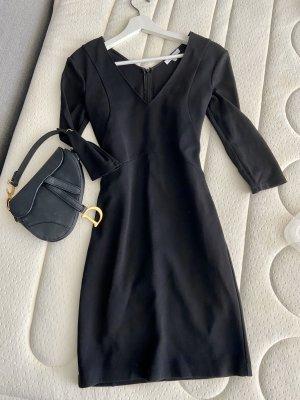 Patrizia Pepe Kleid kurze schwarze 34 36 tailliert casual