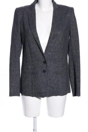 Patrizia Pepe Korte blazer lichtgrijs gestippeld zakelijke stijl