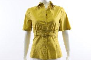 Patrizia Pepe Blouse à manches courtes jaune citron vert coton