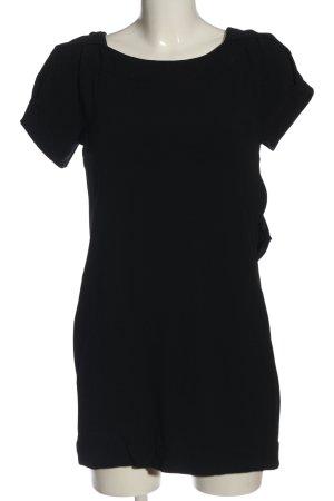 Patrizia Pepe Vestido de manga corta negro look casual
