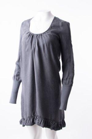 PATRIZIA PEPE - Langarmkleid mit Volants Grau