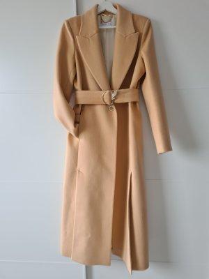 PATRIZIA PEPE langer Mantel, Wolle, nude, Gr.S