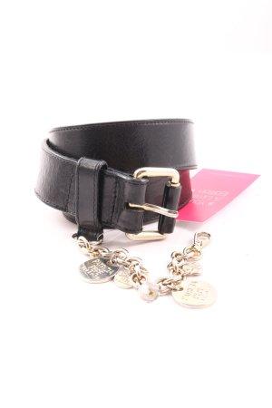 Patrizia Pepe Leather Belt black-gold-colored business style