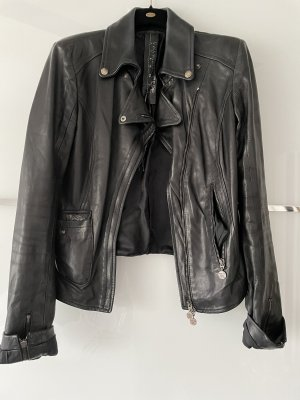 Patrizia Pepe Veste en cuir noir
