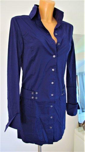 Patrizia Pepe Longbluse Bluse Minikleid dunkelviolett Gr. 36-38 NP ca. 300,-€