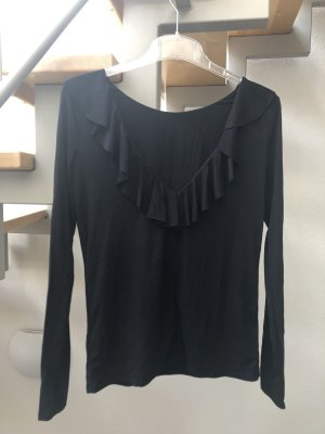 Patrizia Pepe Longshirt schwarz großer Ausschnitt Gr. 2 / 38