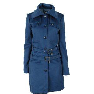 Patrizia Pepe Mantel blau Wolle mit Cashmere ITA40 DE 34/XS