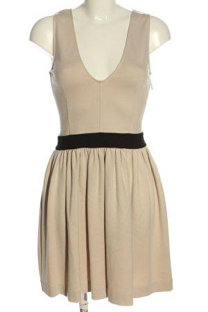 Patrizia Pepe Sukienka mini w kolorze białej wełny-czarny W stylu casual