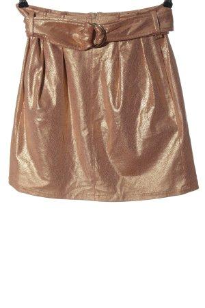 Patrizia Pepe Minirock goldfarben Elegant