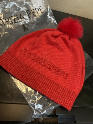 Patrizia Pepe Knitted Hat red