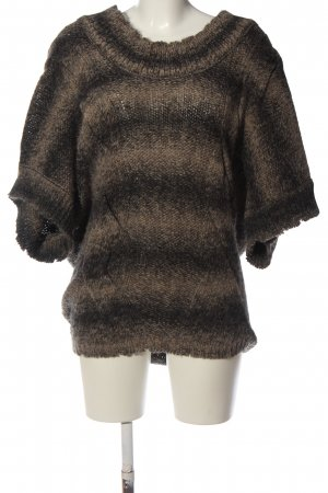 Patrizia Pepe Oversized Pullover schwarz-braun Farbverlauf Casual-Look