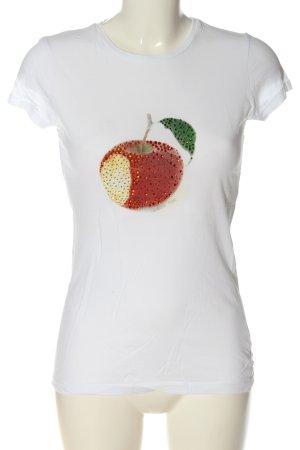 Patrizia Pepe Camiseta estampada blanco estampado temático look casual