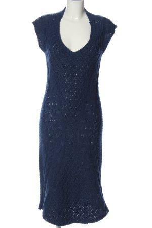 Patrizia Pepe Abito maglione blu punto treccia stile casual