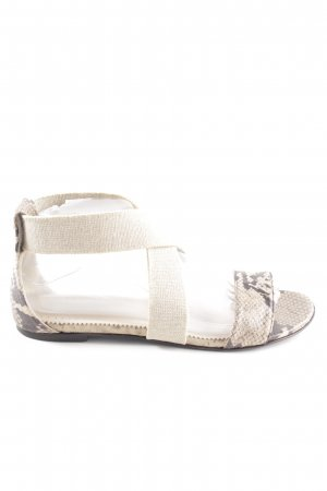 Patrizia Pepe Strapped Sandals cream animal pattern casual look