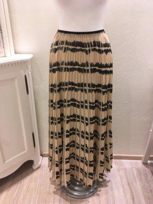 Patrizia Pepe Maxi Skirt black-beige mixture fibre