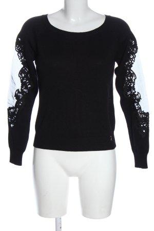Patrizia Pepe Sweter z okrągłym dekoltem czarny W stylu casual