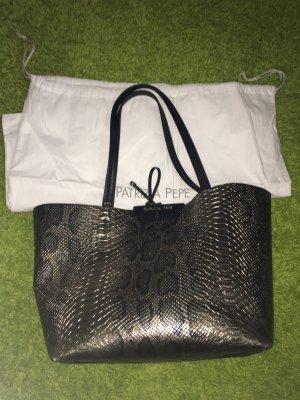 Patrizia Pepe Shopper black-silver-colored leather