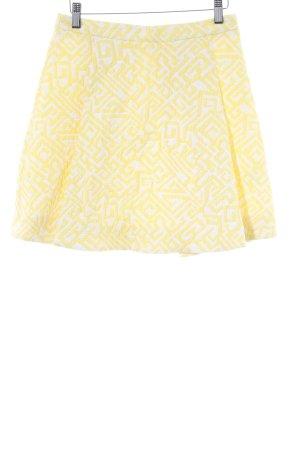 Patrizia Pepe Skaterrock gelb-weiß abstraktes Muster extravaganter Stil