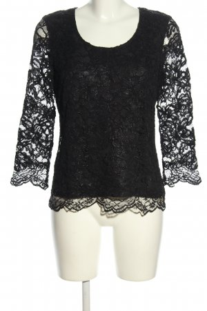 Patrizia Pepe Lace Blouse black casual look