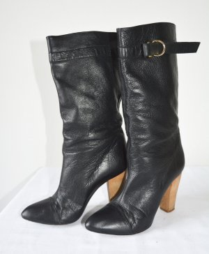Patrizia Pepe Slouch Boots black leather