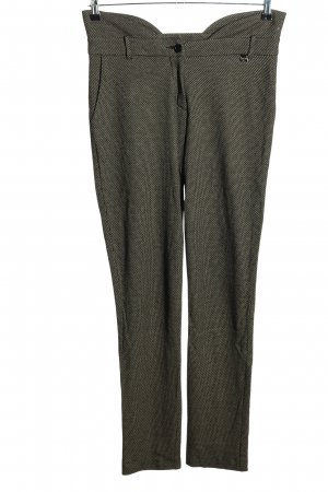 Patrizia Pepe Stretch Trousers black-natural white allover print casual look