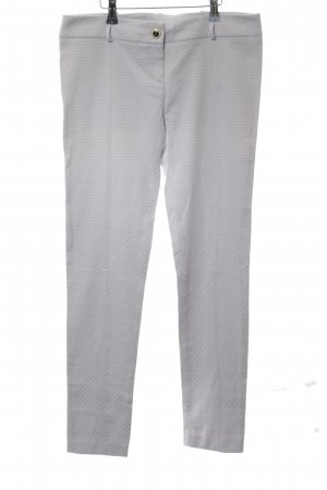 Patrizia Pepe Stretch Trousers light grey allover print business style