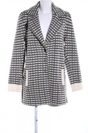 Patrizia Pepe Knitted Coat light grey-brown check pattern business style