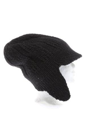 Patrizia Pepe Cappello a maglia nero puntinato stile casual