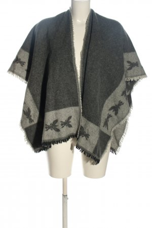 "Patrizia Pepe Knitted Poncho ""Fouldard Scarf"" light grey"