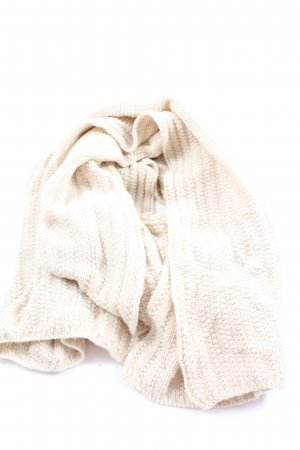 Patrizia Pepe Knitted Scarf natural white cable stitch casual look