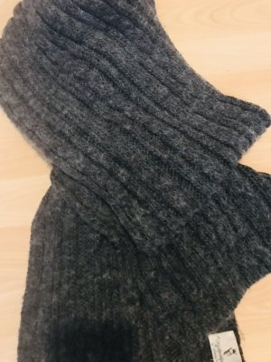 Patrizia Pepe Knitted Scarf anthracite wool