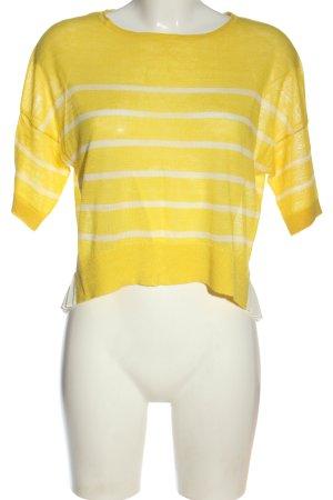 Patrizia Pepe Camisa tejida amarillo pálido-blanco estampado a rayas
