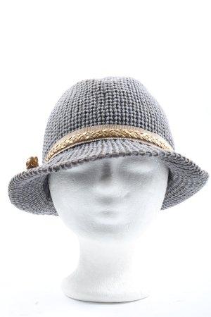 Patrizia Pepe Chapeau de paille gris clair style décontracté