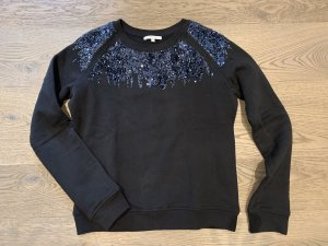 PATRIZIA PEPE Sweatshirt mit Pailletten black schwarz 36 TOPZUSTAND