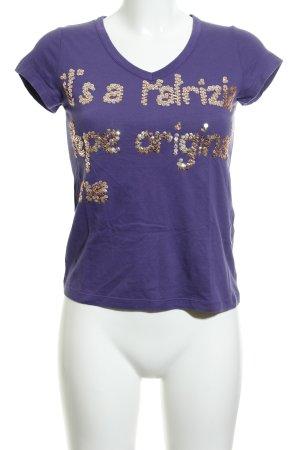 Patrizia Pepe T-Shirt dunkelviolett Casual-Look