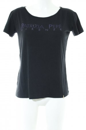 Patrizia Pepe T-Shirt schwarz Casual-Look